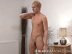 Blond Joseph Jerks massive uncut Cock
