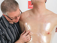Still in chastity, Sebastian returns to have fun with Michael at the Boynapped penthouse. Finding that Michael has been sexless for over a week, Seb can't resist wrapping his victim in cling-film before ripping holes in the plastic to play with Michael's most sensitive body parts, his cock and nipples! After several minutes of begging, Seb removes the chastity belt, Michael's cock is hard in seconds! Then begins the slowest cock massage ever, Michael almost cries as he pleads with Sebastian to wank him faster and harder, desperate to release his week-old load. Finally Seb brings Michael to the edge and released his hot cum. Michael's legs tremble as the orgasm thunders through him, leaving him exhausted.