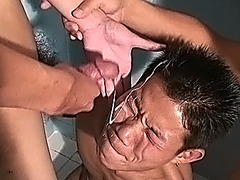 Innocent Chinese twink takes a huge load from big cock