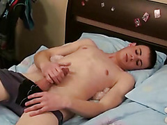 Twink cock-teaser gets naked to show his privates