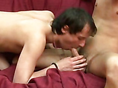 Handsome Gay Gives Blowjob