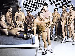 Ten Man Hazing Orgy - Anal