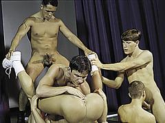 Vince Bandero, Cameron Fox, Nick Steel, Jeremy Jordan, Travis Wade