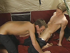 Josh Vonn & Tory Mason - Josh Gets Initiated at Camp by Tory