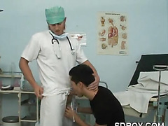 Getting Bareback Fucked on the Doctor's Exam Table